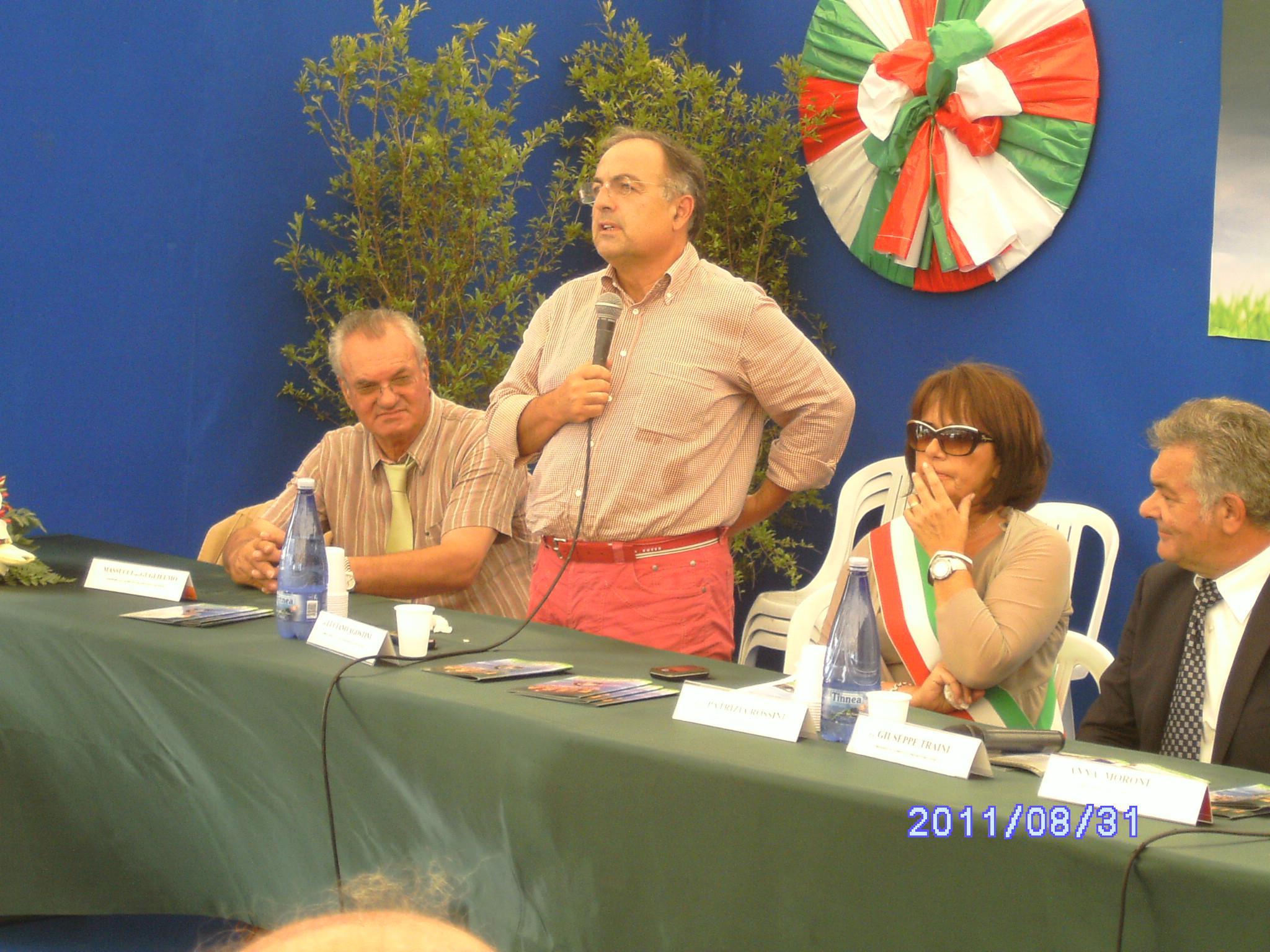 Guglielmo Massucci, l'On. Luciano Agostini, Patrizia Rossini
