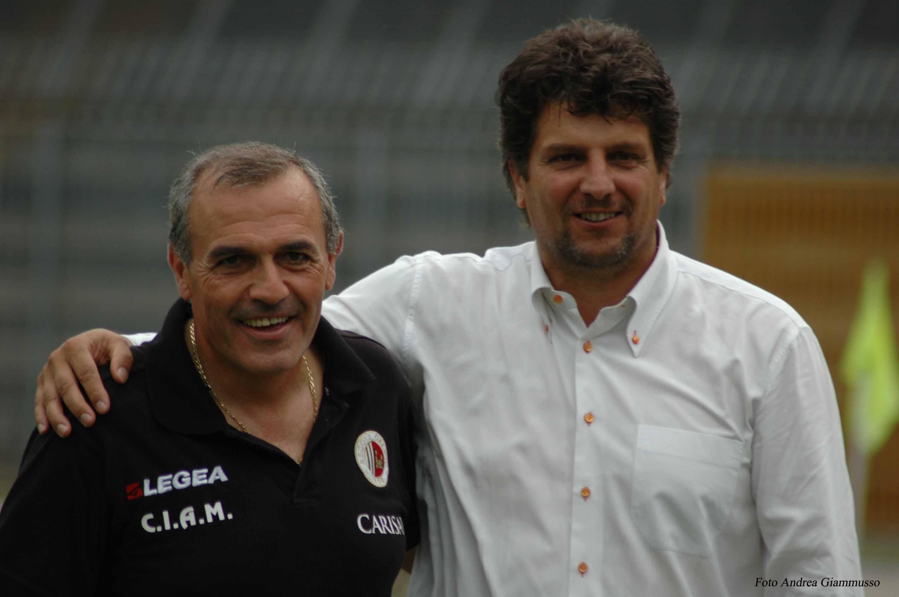 Ascoli-Vicenza, Castori e Baldini (foto Giammusso)