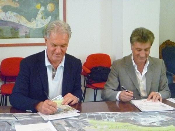 Il presidente Celani e il sindaco Merli