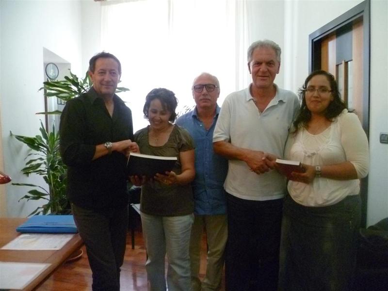 Il presidente Piero Celani con l'assessore Pasqualino Piunti e la delegazione marocchina
