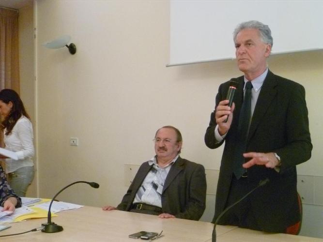 l'assessore al Lavoro Aleandro Petrucci e il presidente della Provincia Piero Celani