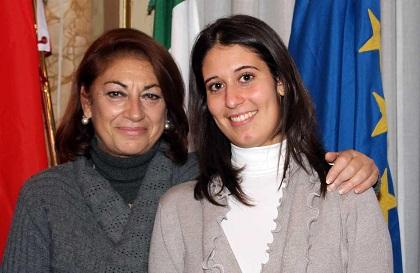 Elisabetta Alessandrini Orlini (a sinistra) con Lorena Di Girolamo