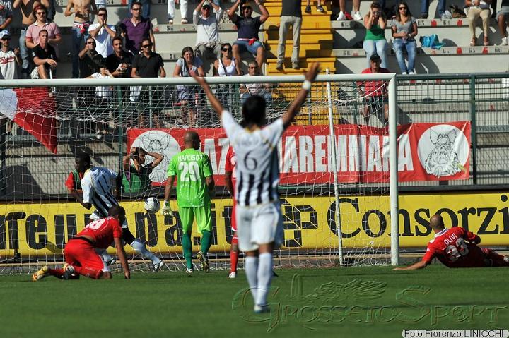 Grosseto - Ascoli. Gol Papa Waigo