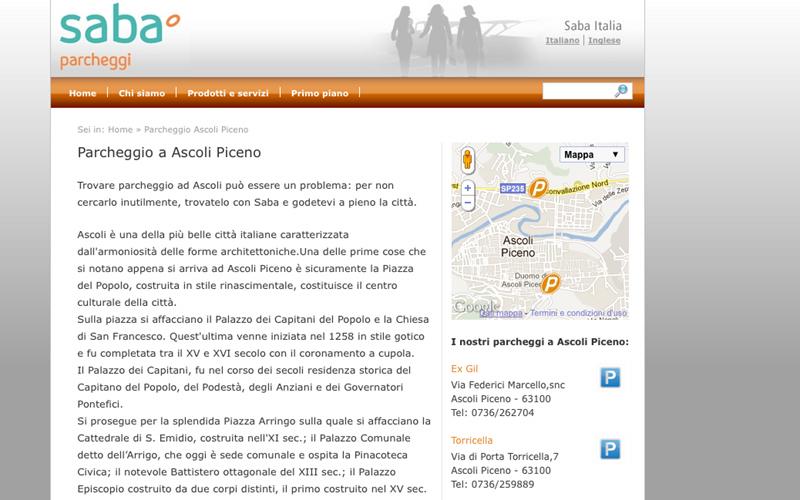 La pagina Saba dedicata ad Ascoli