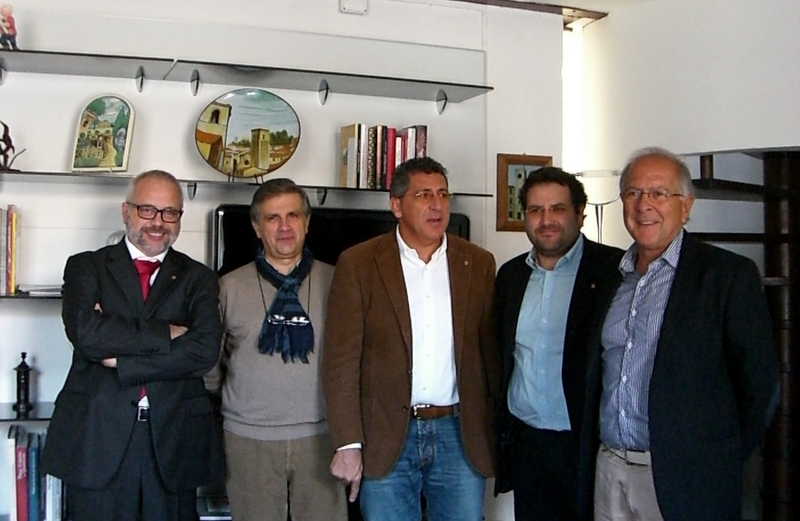 Da sinistra, Leonardi, Albanesi, Romanucci, Lelii e Bucciarelli