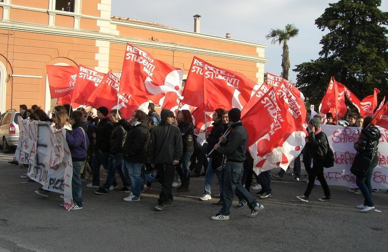 Manifestazione per il diritto allo studio