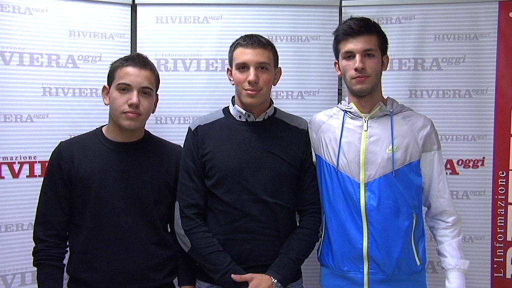Davide Assagno, Alessio Pagliacci, Giacomo Ursini, studenti delle associazioni di centrodestra