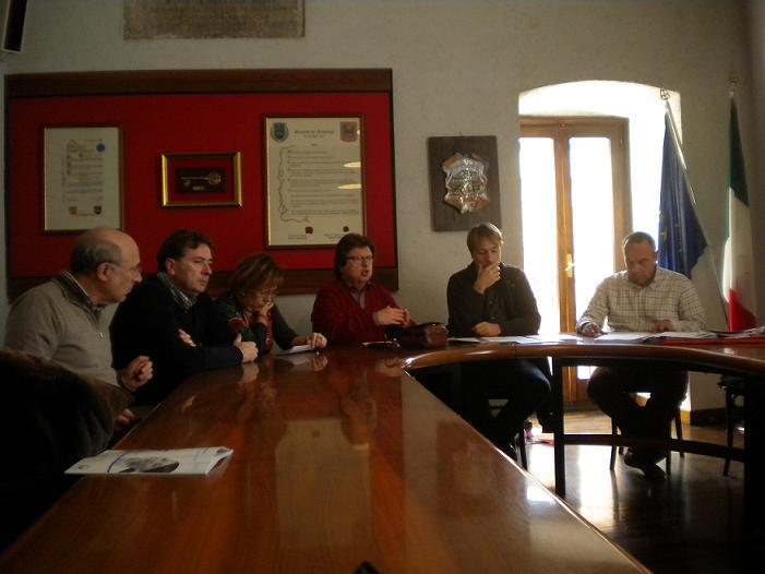 I consiglieri di opposizione nel corso della conferenza