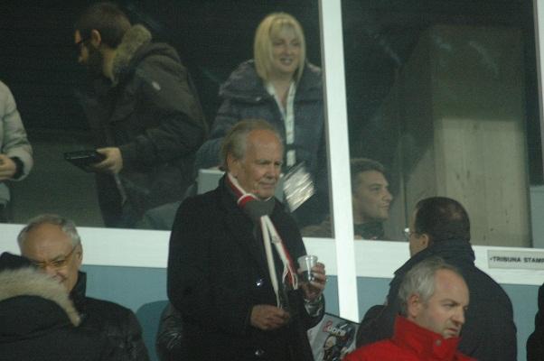 Il presidente Benigni in tribuna (Foto Giammusso)