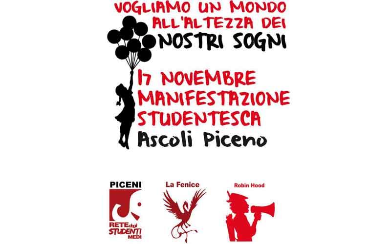 Manifestazione degli studenti il 17 novembre