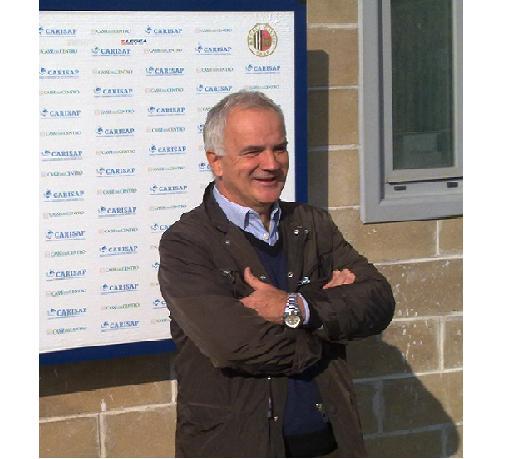 Il tecnico Massimo Silva alla presentazione