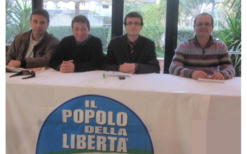 Pdl Offida, da sinistra: Andrea D'Angelo, Marcello Camela, Simone Corradetti, Marco Lanciotti