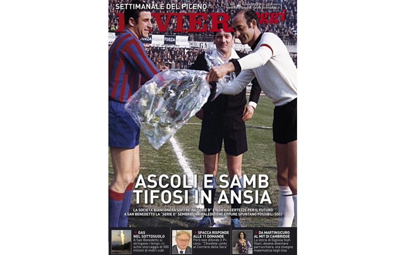 La copertina con Paolo Beni e Carlo Mazzone prima di un derby