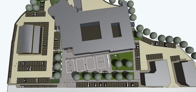Il nuovo progetto del piazzale antistante l' ex caserma Vellei