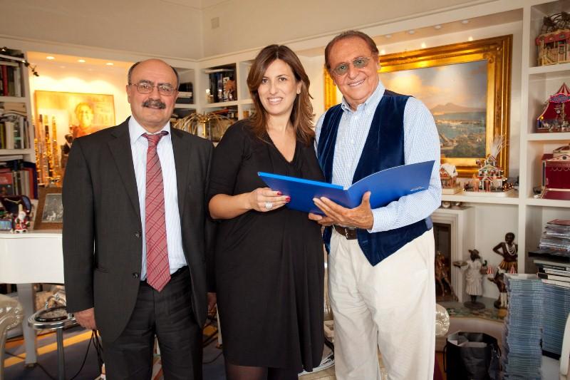 Renzo Arbore con Barbara Gabrielli e Rossano Bartoli