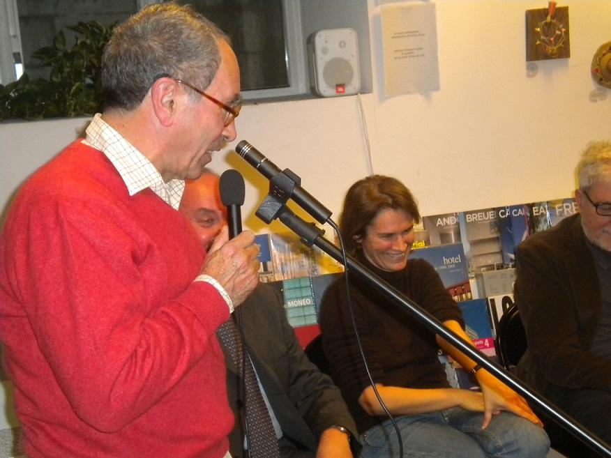 Tullio Pericoli con Silvia Ballestra, Papetti e Gnoli