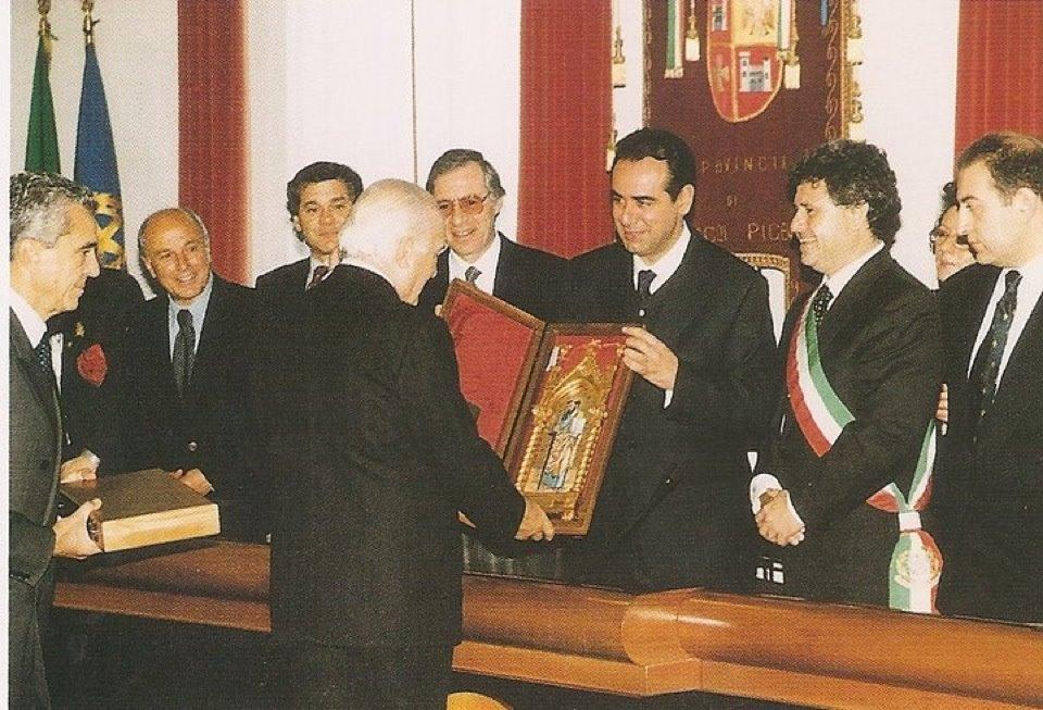 Oscar Luigi Scalfaro ad Ascoli