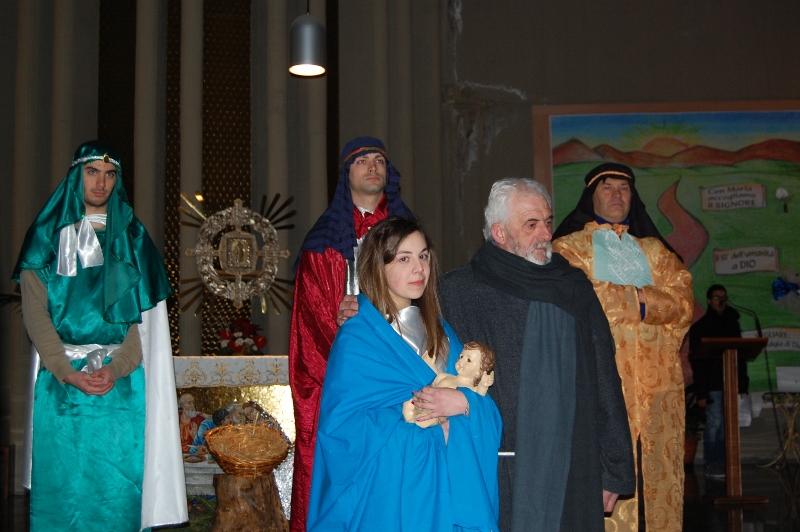 La Sacra Famiglia con i Re Magi: Quinto Benigni, Matteo Vallorani, Davide Vallorani