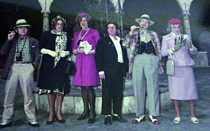 I 'merecane, una foto storica dal Carnevale sambenedettese