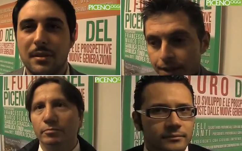 Il futuro del Piceno, in ordine cronologico Francesco Ameli, Marco Fioravanti, Andrea Scalella, Gianluca Tondi