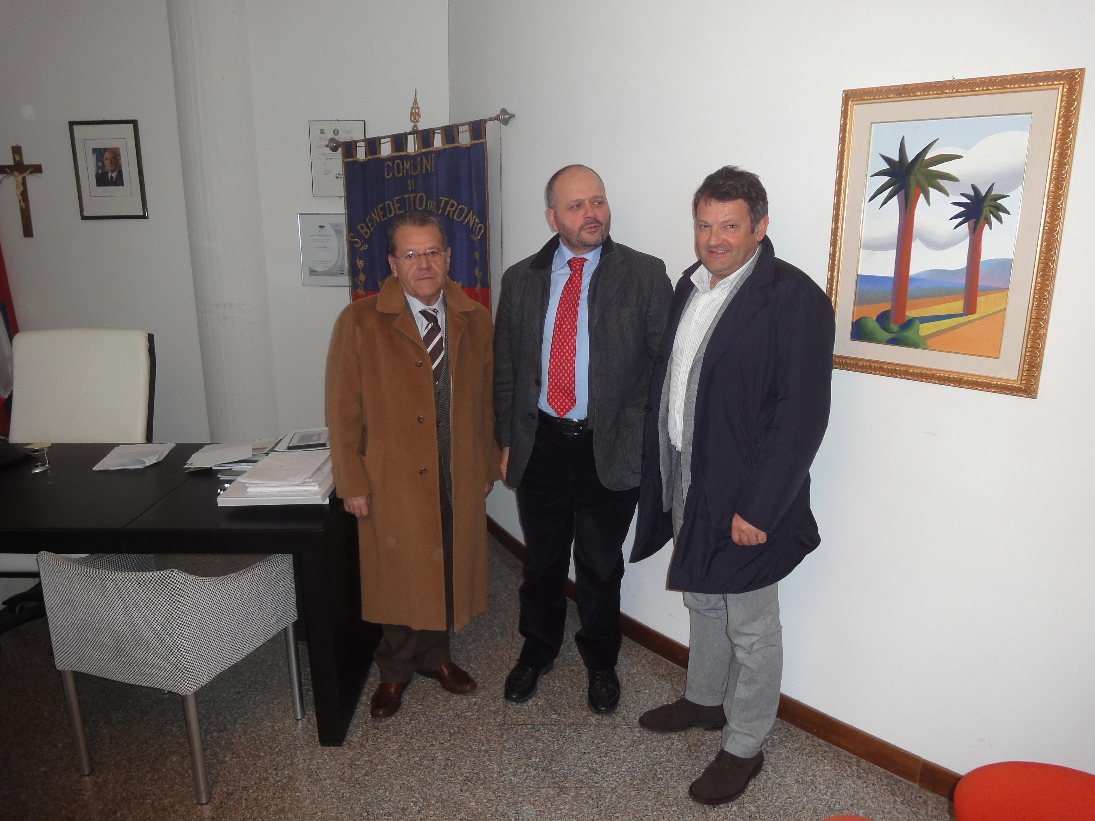 Il Sindaco Giovanni Gaspari, il presidente Ance Francesco Gaspari e il vice presidente Paolo Ulissi
