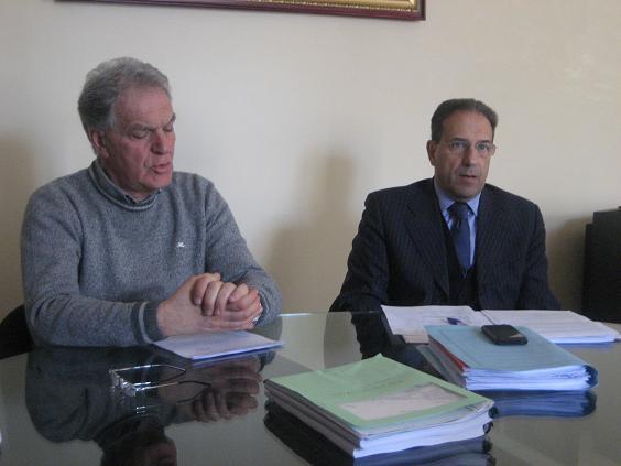 Piero Celani e l'assessore Crescenzi