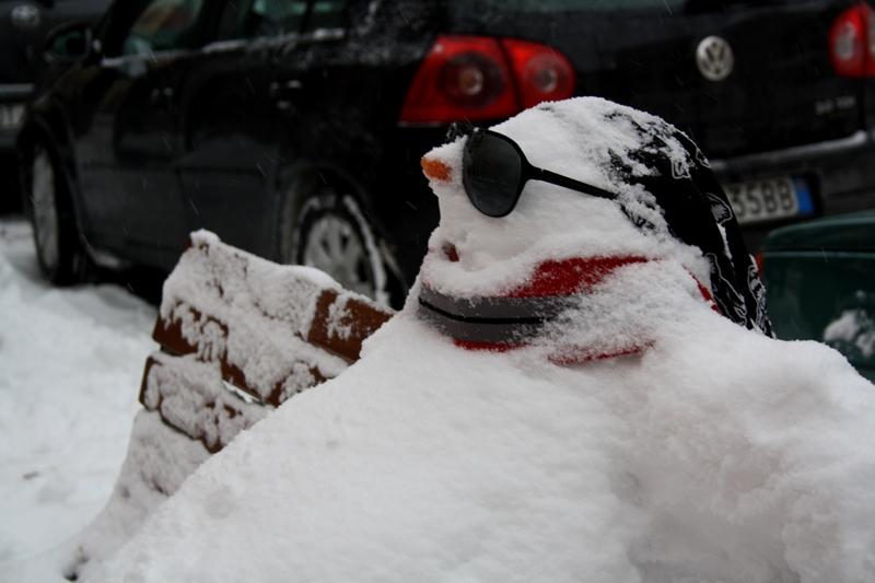 Acquaviva Picena, pupazzo di neve, Serena Morganti