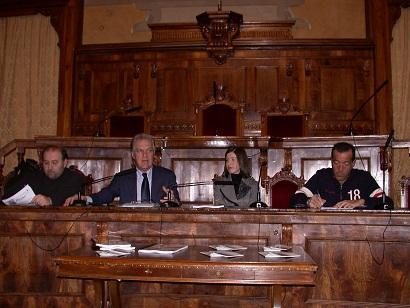 Al centro il presidente Celani