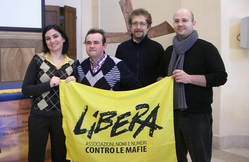 Paola Senesi, Giancarlo Alboini, Francesco De Angelis e don Paolo Sabatini