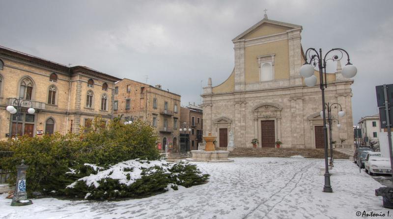 Chiesa Marina a San Benedetto. La neve del 12 febbraio 2012. Foto di Antonio I