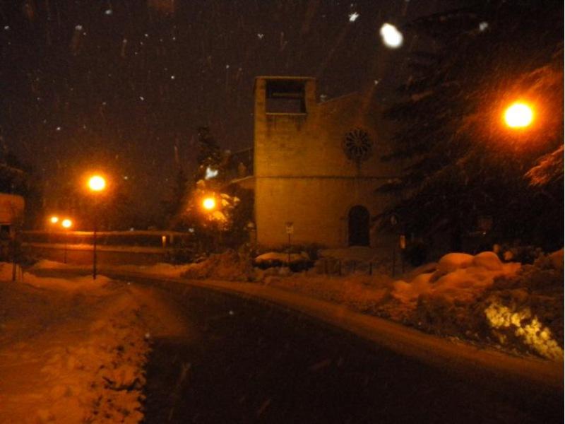 Neve 10 febbraio ad Ascoli Piceno Chiesa di San Gregorio