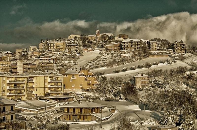 Neve, Acquaviva, 12 febbraio 2012 foto Andrea Tomassini 1