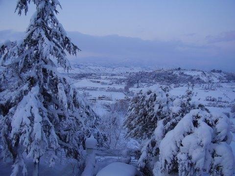 Neve, Monsampolo, 11 febbraio 2012 foto Romeo Di Girolamo 2
