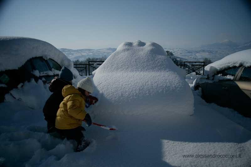 Neve, Monsampolo, 12 febbraio 2012 foto Alessandro Cocconi 1