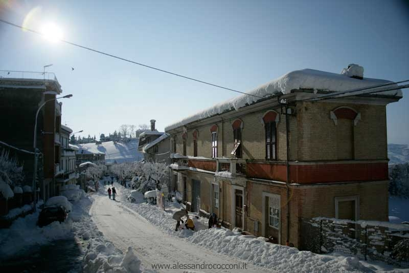 Neve, Monsampolo, 12 febbraio 2012 foto Alessandro Cocconi 4