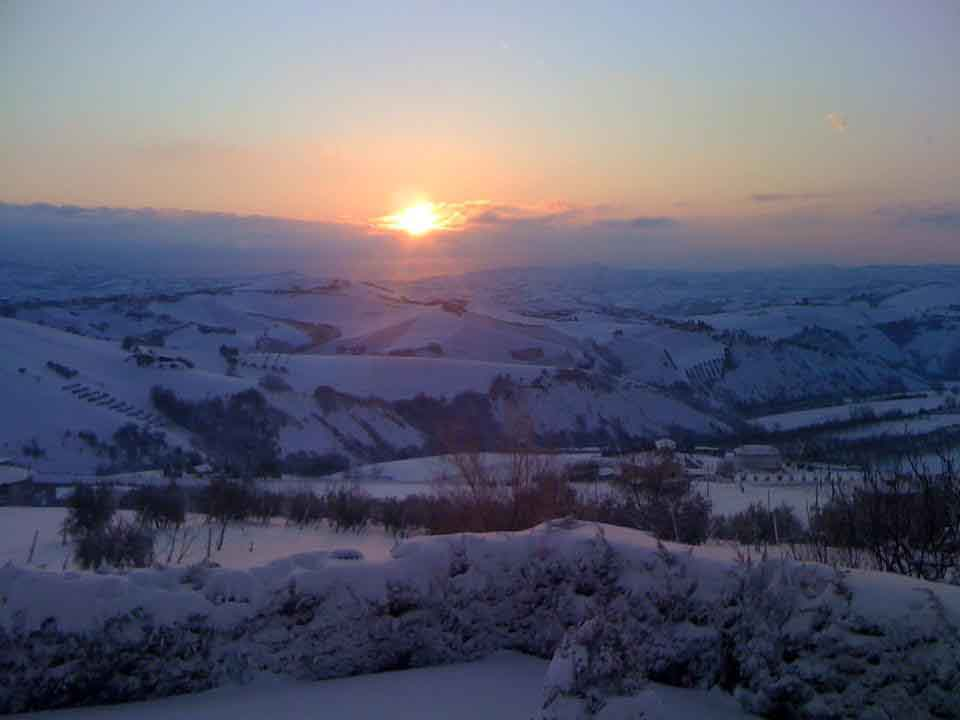 Neve, Offida, 12 febbraio 2012 foto Alberto Premici