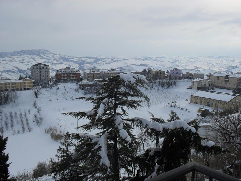 Neve a Montefiore 11 febbraio, foto di Alessandra