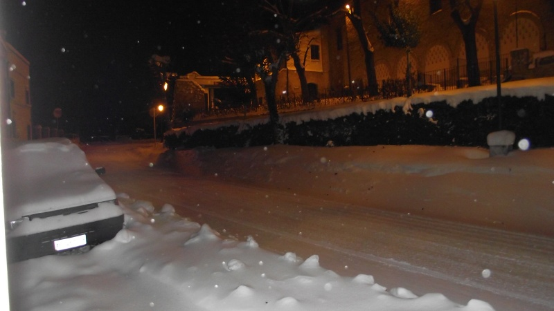 Neve a Offida, 9 febbraio 2012 (Enrica Capriotti)
