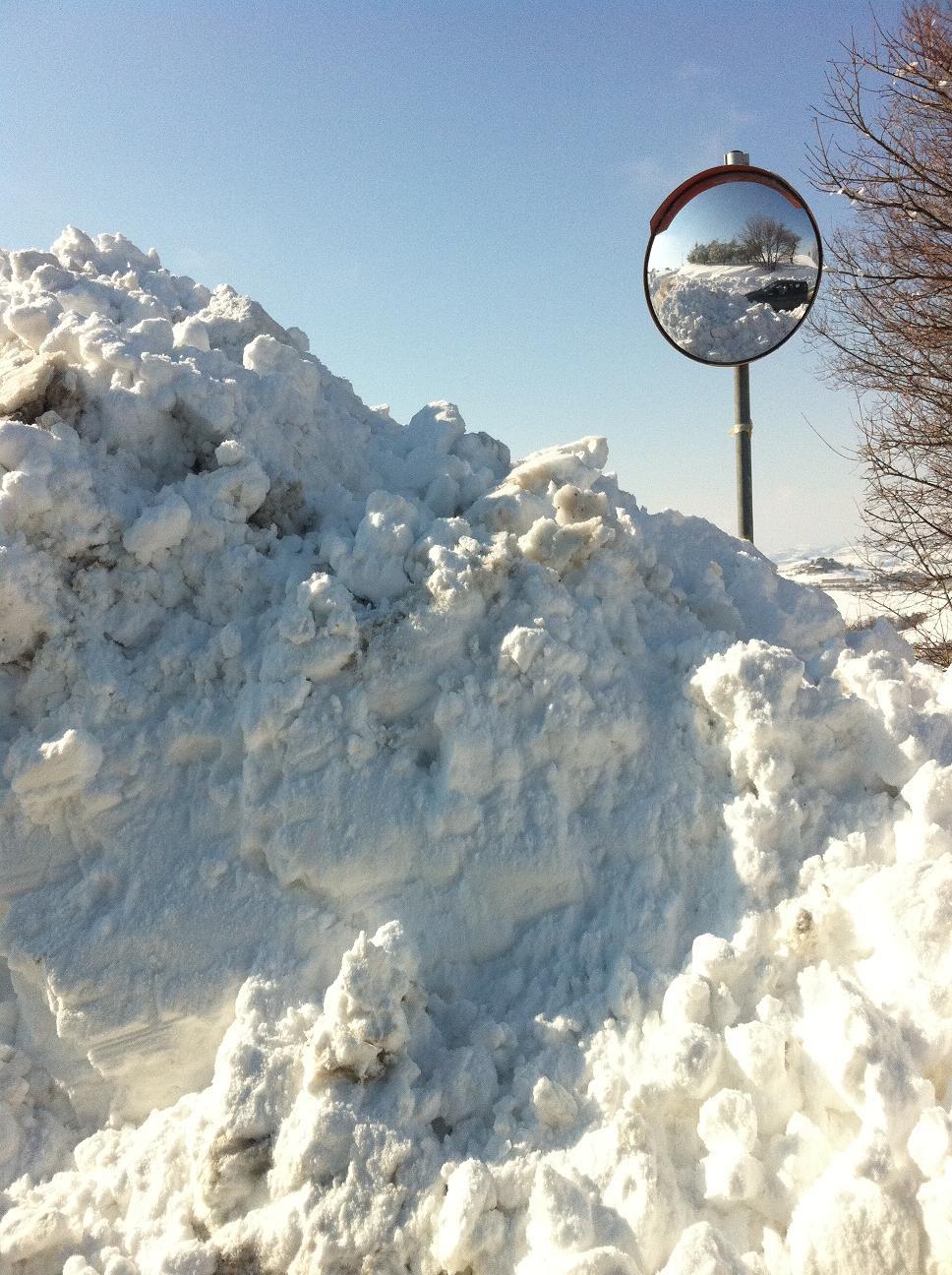 Neve a Ripatransone, 11 febbraio 2012 foto Silvia Basili 2