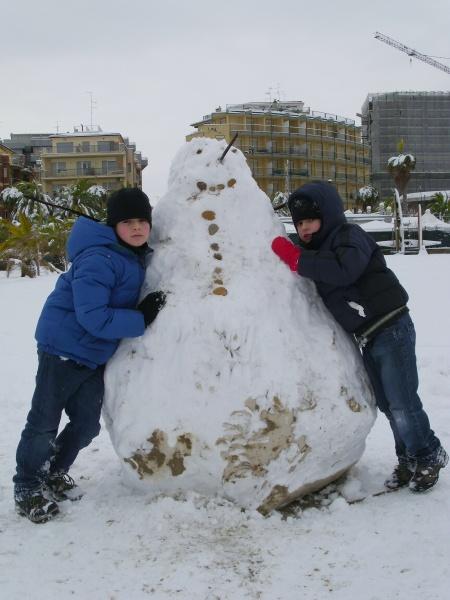 Neve a San Benedetto, 10 febbraio 2012, foto di Danilo