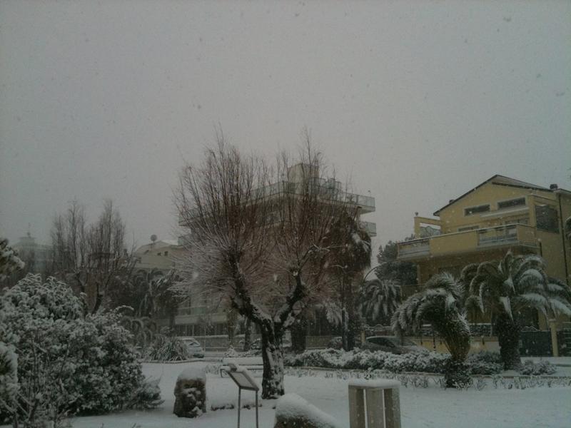 Neve a San Benedetto del Tronto, 8 febbraio 2012, foto di Arianna Grassi