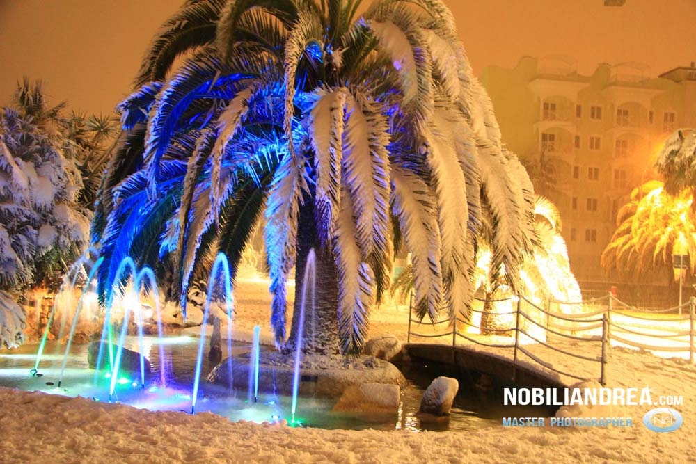 Neve a San Benedetto del Tronto, 9 febbraio 2012 (Andrea Nobili)