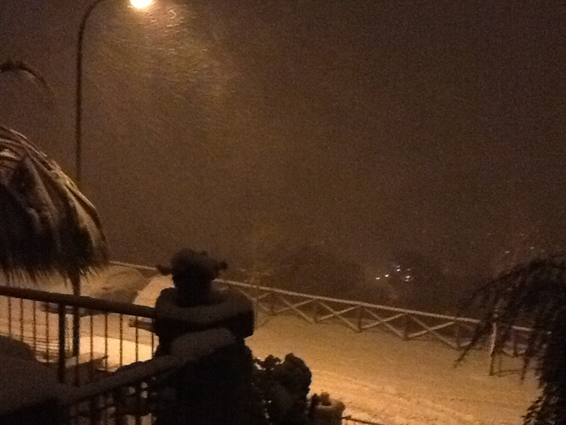 Neve a San Benedetto del Tronto, via Sicilia, 8 febbraio 2012, foto di Serena Morganti