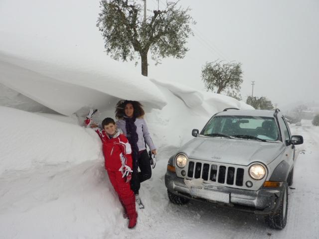 Neve ad Offida, frazione di Santa Maria Goretti, 10 febbraio 2012 (Marcus Biersack)