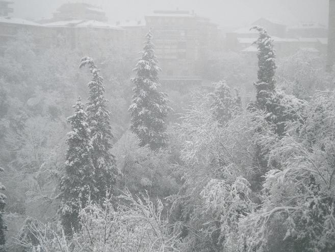 Neve ascoli tronto dal ponte maggiore