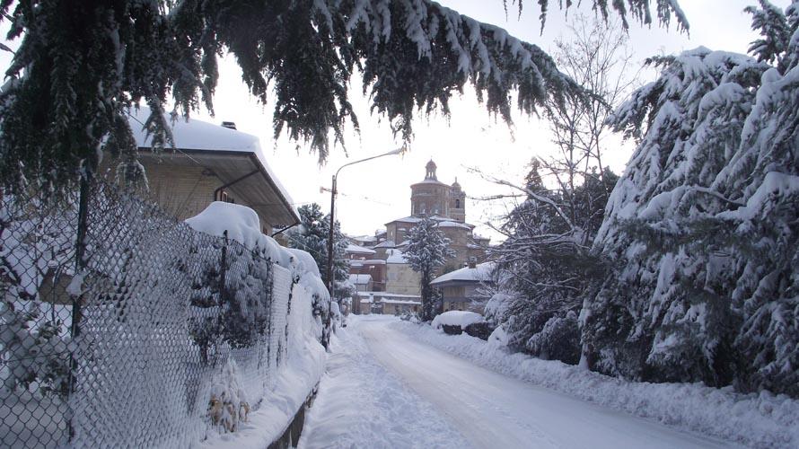 Offida dopo la tempesta di neve, 11 febbraio, foto di Enrica Capriotti