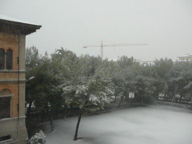 12 febbraio 2012, Grottammare e la neve visti da Filippo