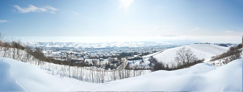 Panorama Nevone a Castel di Lama l'11 febbraio 2012. Di Ernesto Pezzella