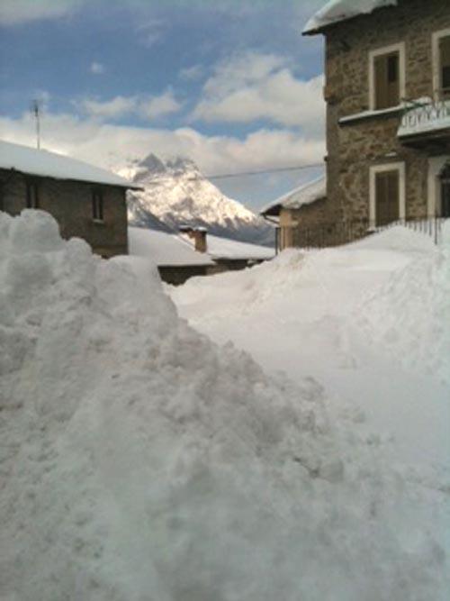 Piazza di Spelonga di Arquata, 11 febbraio, neve (valentina filiaggi)