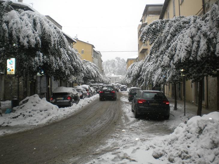 Neve ad Ascoli Piceno, via Sacconi, 10 febbraio 2012 (Domenico C.)